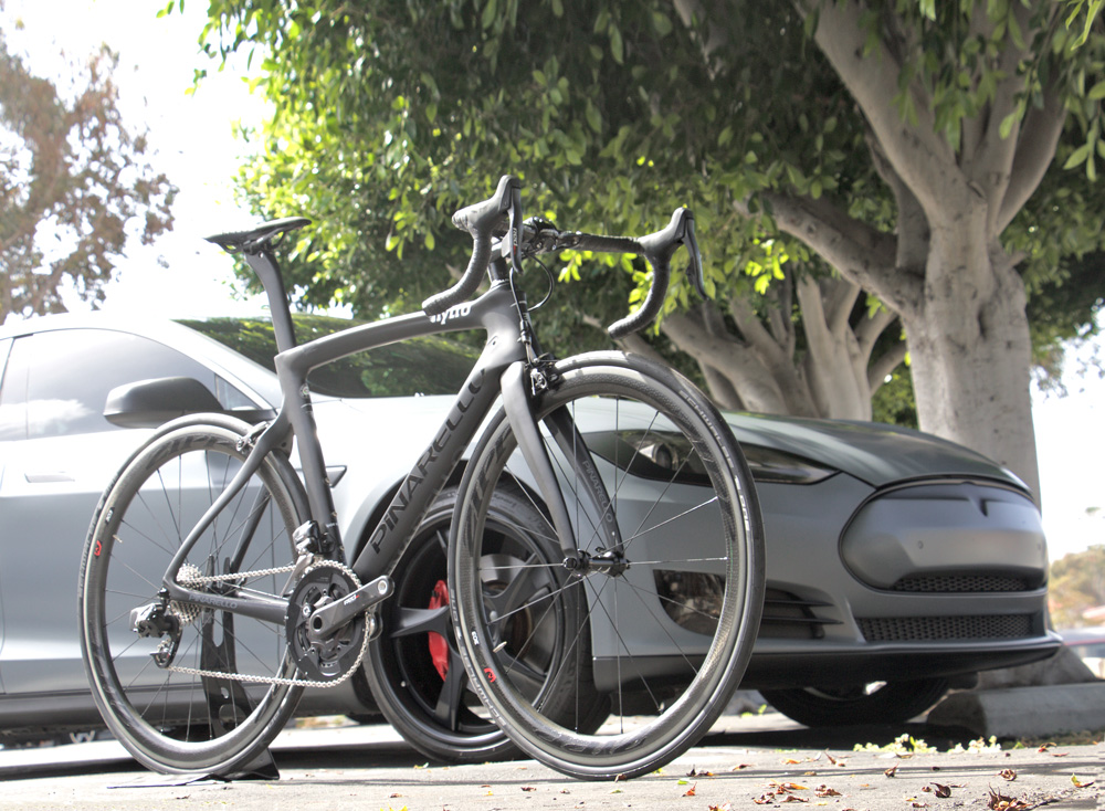 Pinarello Dogma F8 Nytro Spec RED ETAP with Tesla Model S